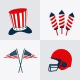 USA design. USA design over white background, vector illustration Stock Photography