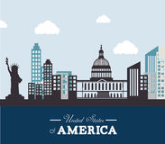 USA design, vector illustration. Stock Images
