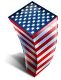 USA, die Markierungsfahne aufbauen Stockfoto