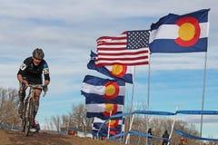 2014 USA, die Querfeldeinrennen-Angehörige radfahren Lizenzfreies Stockfoto