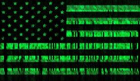 USA digita flag style matrix Royalty Free Stock Images