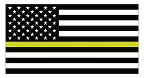 USA Dispatchersflagga royaltyfri illustrationer