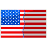 USA divided and stitched Stock Images