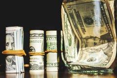USA dolarów banknotów tekstura Tekstury USA dolary Tło różni dolarowi rachunki fotografia stock