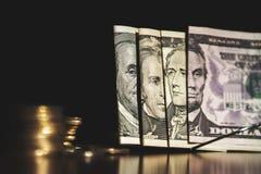USA dolarów banknotów tekstura Tekstury USA dolary Tło różni dolarowi rachunki obrazy stock
