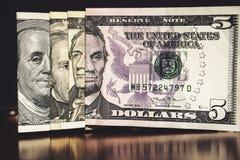 USA dolarów banknotów tekstura Tekstury USA dolary Tło różni dolarowi rachunki obraz royalty free