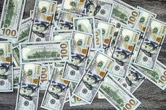 USA dolary, usa $ 100, 100 dolarowi obrazków, wielkich dolarów obrazki w różnych pojęciach dla finanse i zapasu exchang, starzy i Obrazy Stock