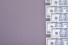 USA dolary składy, minimalny tło Mieszkanie nieatutowy zdjęcia royalty free