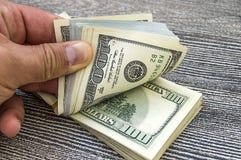 USA-Dollar, USA $ 100, alte und neue 100 Dollarbilder, große Dollarbilder in den verschiedenen Konzepten für Finanzierung und Vor Lizenzfreies Stockfoto