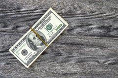 USA-Dollar, USA $ 100, alte und neue 100 Dollarbilder, große Dollarbilder in den verschiedenen Konzepten für Finanzierung und Vor Lizenzfreie Stockfotos