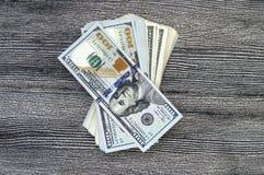 USA-Dollar, USA $ 100, alte und neue 100 Dollarbilder, große Dollarbilder in den verschiedenen Konzepten für Finanzierung und Vor Lizenzfreie Stockfotografie