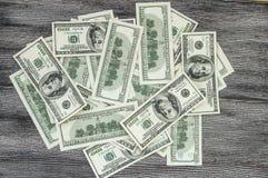 USA-Dollar, USA $ 100, alte und neue 100 Dollarbilder, große Dollarbilder in den verschiedenen Konzepten für Finanzierung und Vor Lizenzfreie Stockbilder