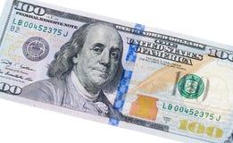 USA 100 dollar anmärkning Royaltyfria Bilder