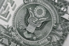 USA Dollar bill closeup Stock Images