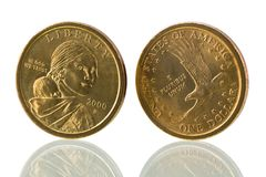USA dollar coin Royalty Free Stock Photography