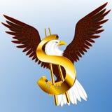 USA-Dollar Eagle Lizenzfreies Stockfoto