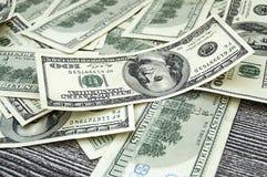 USA dollar, USA $ 100, gamla och nya 100 dollarbilder, stora dollarbilder i olika begrepp för finans och materielexchang Royaltyfria Bilder