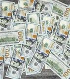 USA dollar, USA $ 100, gamla och nya 100 dollarbilder, stora dollarbilder i olika begrepp för finans och materielexchang Arkivbilder