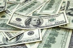 USA dollar, USA $ 100, gamla och nya 100 dollarbilder, stora dollarbilder i olika begrepp för finans och materielexchang Fotografering för Bildbyråer