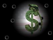 USA Dollar Grenade Abstract Royalty Free Stock Photography