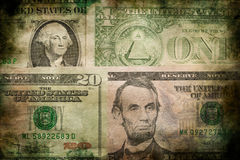 USA dollar money banknotes texture grunge background Stock Photography
