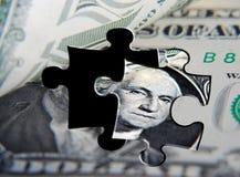 USA dollar puzzle Stock Photo