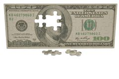 USA dollar puzzle on white background.3D illustration. USA dollar puzzle on white background. 3D illustration vector illustration
