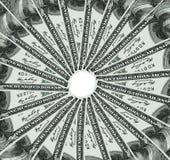 USA dollar vänder omkring Arkivfoto
