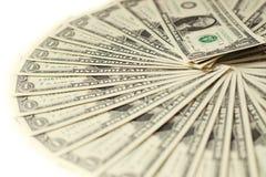 1 USA-Dollarbanknotenhintergrund Lizenzfreies Stockfoto