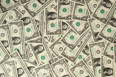 1 USA-Dollarbanknotenhintergrund Stockbild