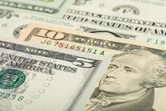 USA-Dollargeld-Banknotenhintergrund Lizenzfreie Stockfotografie