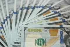 USA-Dollargeld-Banknotenhintergrund Lizenzfreie Stockbilder