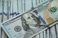USA-Dollargeld-Banknotenhintergrund Stockbild
