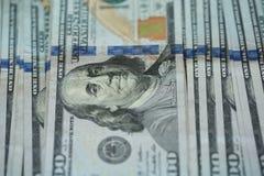 USA-Dollargeld-Banknotenhintergrund Stockfoto