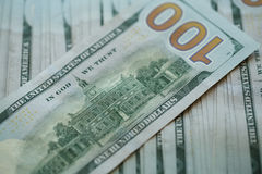 USA-Dollargeld-Banknotenhintergrund Lizenzfreies Stockfoto
