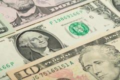 USA-Dollargeldbanknoten-Beschaffenheitshintergrund Stockfoto
