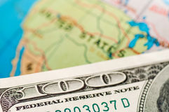USA and dollars Stock Images
