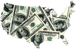USA dollars stock photography