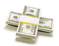 USA dollars isolated Stock Photos