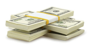 USA dollars isolated Stock Images