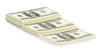 USA dollars isolated Royalty Free Stock Photography