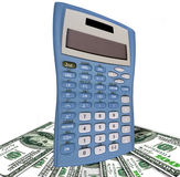 USA dollars and old calculator Royalty Free Stock Photography