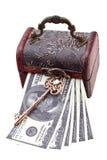 Money under lock and key Royalty Free Stock Photos