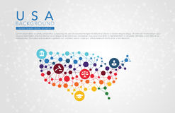 USA dotted vector background Royalty Free Stock Images