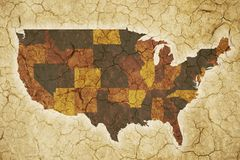 USA Drought Background Stock Photography
