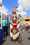 USA: Dumny zatoczki, Seminole indianin w ceremoniale/Odziewa Obraz Royalty Free