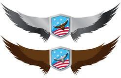 Usa eagle shield Stock Photo