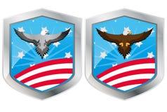 Usa eagle shield Stock Image