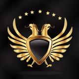 Eagle shield gold symbol logo vector illustration. Stock Photos