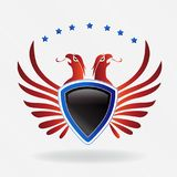 USA eagle shield symbol logo vector illustration. USA eagle shield concept icon logo vector illustration identity card logotype template image design graphic Royalty Free Stock Photos